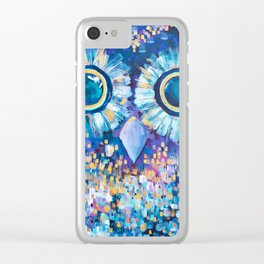 Visions in the Night Clear iPhone Case