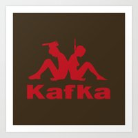kafka Art Prints featuring Kafka by le.duc
