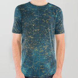 Under Constellations All Over Graphic Tee