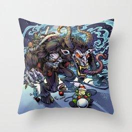 Krampus Throw Pillow