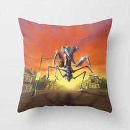 A Shocker on Shock Street Throw Pillow