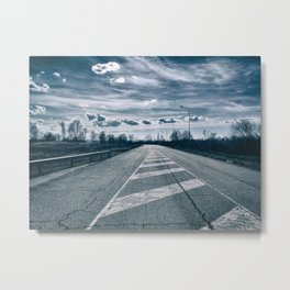The road toward the power plant Metal Print
