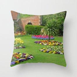 Castle Park Gardens Throw Pillow