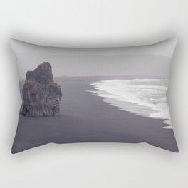 Black beach Rectangular Pillow