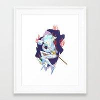 berserk Framed Art Prints featuring Griffith by Kerederek