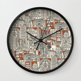 Hong Kong toile de jouy Wall Clock