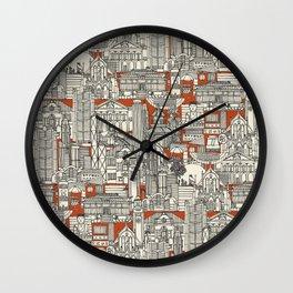 Hong Kong toile de jouy Wall Clock