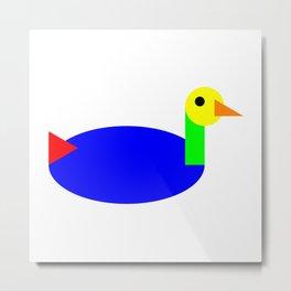 Duck Privileges Metal Print