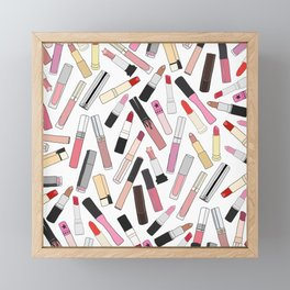 Lipstick Party - Light Framed Mini Art Print