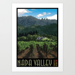 Napa Valley - Far Niente Winery - Oakville District Art Print