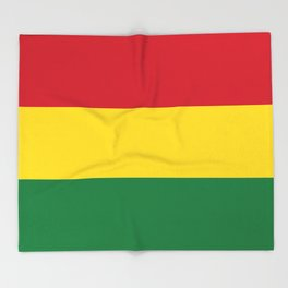 Flag of bolivia-bolivian,spanish,america,south america,latin america,coffee,Santa cruz,Sucre,La paz Throw Blanket
