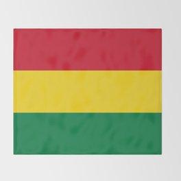 Flag of bolivia-bolivian,spanish,america,south america,latin america,coffee,Santa cruz,Sucre,La paz Throw Blanket