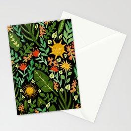 Sunshine Botanical - Dark Version Stationery Cards
