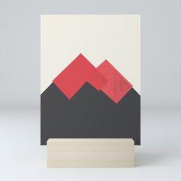 Volcano Pastel Mountains II Mini Art Print