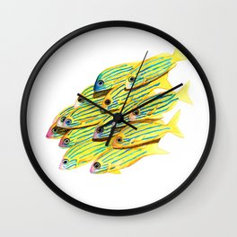 Five Lined Snapper Wall Clock