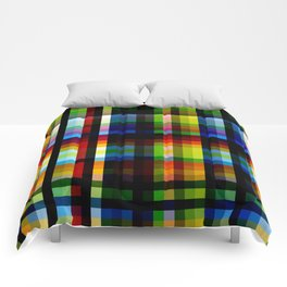Colorful Rainbow Grid Naga Comforters