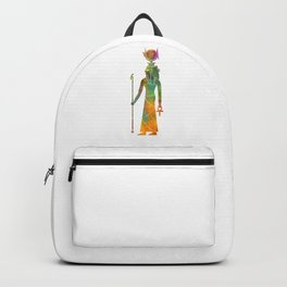 Egyptian god Hathor in watercolor Backpack