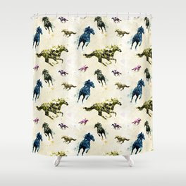 Horse Race Shower Curtain