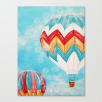 hot air balloons Canvas Prints featuring Hot Air Balloons #3 by Music of the Heart