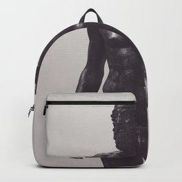 Greek sculpture, black & white fine art, Riace bronzes, greek art, Calabria Backpack