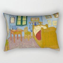 Van Gogh - The bedroom - digitally remastered Rectangular Pillow