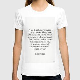 Marcus Tullius Cicero about books T-shirt