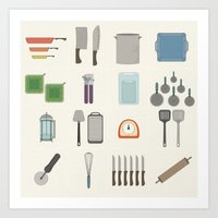 kitchen Art Prints featuring Kitchen by Stephanie Weatherford