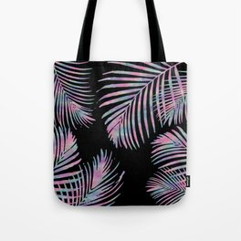 Iridescent Summer Palm Leaves Tote Bag