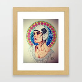Nouveau Flapper Framed Art Print