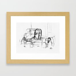 Warbot Sketch #033 Framed Art Print
