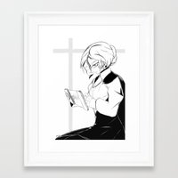 roosterteeth Framed Art Prints featuring [RWBY] Glynda Goodwitch by AikiYun