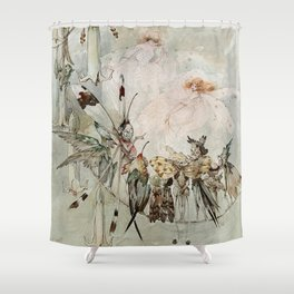 """Exotics at Play"" by Duncan Carse Shower Curtain"