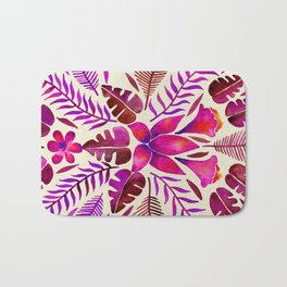 Tropical Symmetry – Magenta Bath Mat