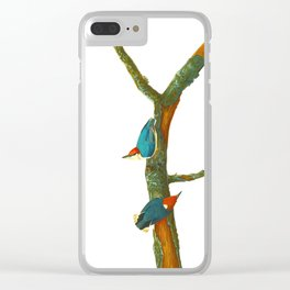 Turquoise Bird Clear iPhone Case