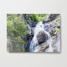 Little waterfall in a wood in the Alps in summer Metal Print