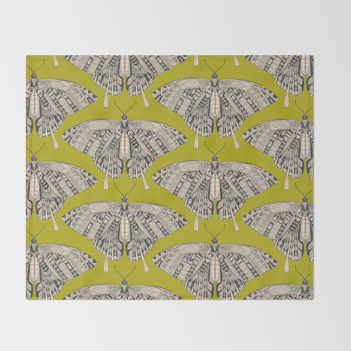 Swallowtail Butterfly Citron Basalt Throw Blanket By Sharonturner Classy Citron Throw Blanket