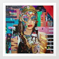 chelsea fc Art Prints featuring Chelsea by Katy Hirschfeld
