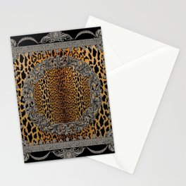 Baroque Leopard Scarf Stationery Cards