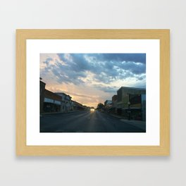 down town Framed Art Print