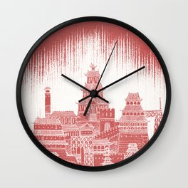 Mars Celestial City Wall Clock