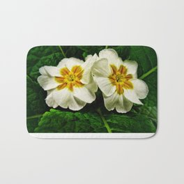 White Primrose at Barthels Farm Market Bath Mat