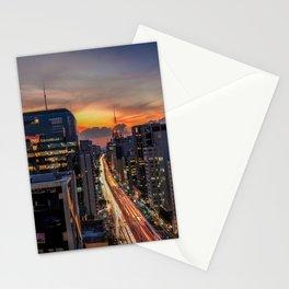 Night lights of São Paulo Stationery Cards