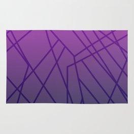 Geom. lines on pink Rug