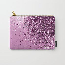 Sparkling Pink Lady Glitter #1 #shiny #decor #art #society6 Carry-All Pouch