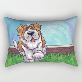 Animal Parade St. Bernard Rectangular Pillow