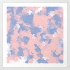 BLOSSOMS - ROSE QUARTZ / SERENITY Art Print
