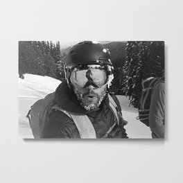 Skiing Faceplant Metal Print