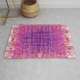 Tapestry Red, Blue, Pink and Lavender Rug