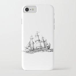 sailing ship . Home decor Graphicdesign iPhone Case