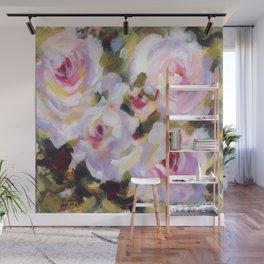 White Rose Garden Wall Mural